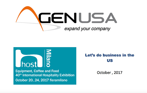 Workshop Gen USA Host Milano 2017